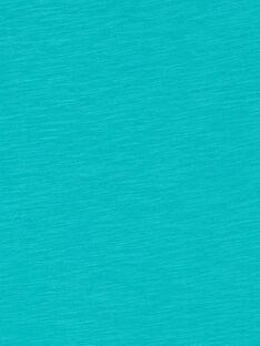 Türkisfarbenes Baumwoll-T-Shirt für Jungen LOJOTI3 / 21S90231TMCC215