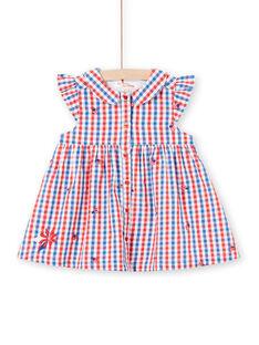 Baby Mädchen kariertes Hemdkleid LICANROB3 / 21SG09M3ROB001