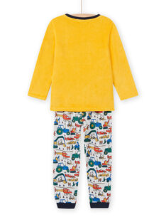 Zweifarbiges Schlafanzugset für Jungen mit Fahrzeugmotiv MEGOPYJVOI / 21WH1298PYJ113