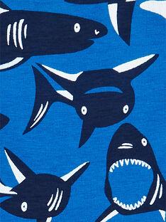 Packung mit 5 grünen, blauen und roten Hai Druck Boxershorts Junge Kind LEGOBOXSEM1 / 21SH1222BOX070