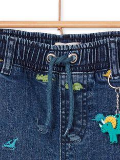 Dinosaurier Druck blaue Jeans Bermuda Shorts Kind Junge LOVERBER2 / 21S902Q1BERP274