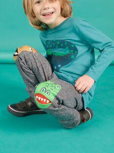 Graue Fleece-Jogginghose für Kind Junge MOTUJOG / 21W902K1JGBJ922