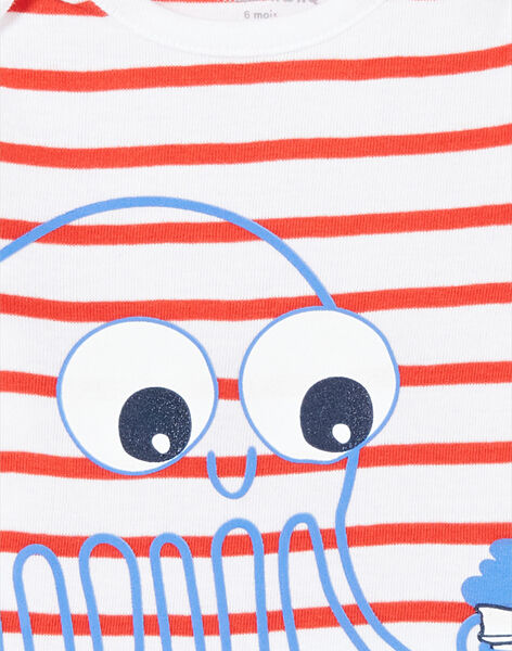 Kurzärmeliger Baby-Body für Jungen mit Oktopus-Print LEGABODPIE / 21SH1426BDL000