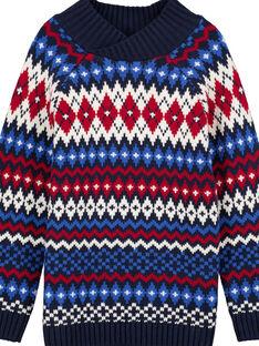 Jacquard-Pullover mit Schalkragen GOTRIPUL / 19W902J1PUL705