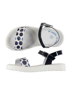 Zweifarbige Sandalen für draußen Mädchen FFSANDJANE / 19SK35B2D0E070