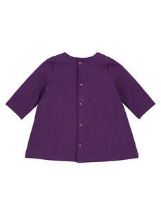 Fleece-Kleid Baby Mädchen GIVIOROB1 / 19WG09R2ROB708
