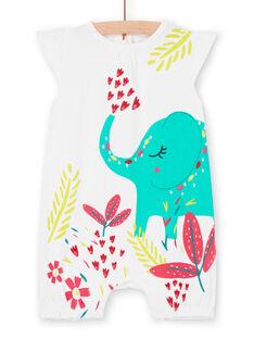 Weißer Baby Mädchen Jumpsuit LEFIGREAMO / 21SH13C6GRE000