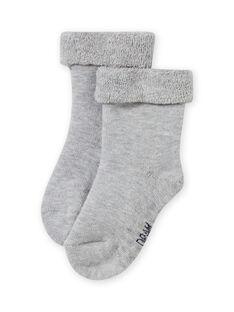 Einfarbig graue Socken für Mädchen MYIESSOQB4 / 21WI09E9SOQJ920