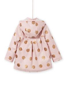 Rosa Regenmantel für Mädchen mit Tupfen MAPAIMPER / 21W90151IMPD332