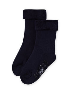 Marineblaue Boucle-Socken für Baby-Mädchen MYIESSOQB3 / 21WI09EBSOQ070