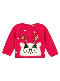 Weihnachtspullover Baby Mädchen GINOPULL / 19WG09V1PULF521