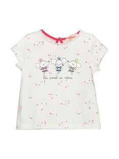 Kurzärmeliges T-Shirt für Mädchen FICOTI / 19SG0981TMC000