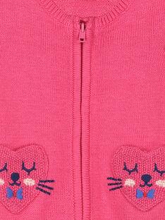Baby-Strickweste mit Reißverschluss für Mädchen FICOCAR2 / 19SG0982CAR030