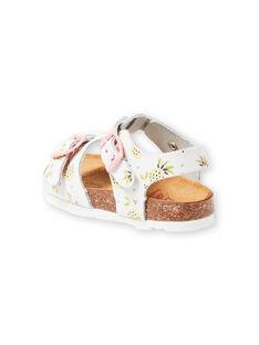 Baby Mädchen Weiß Sandalen mit Ananas Druck Schnallen LBFNUANAS / 21KK3751D0E000