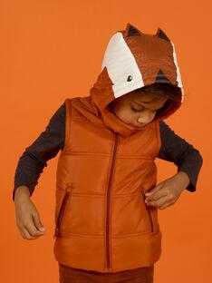 Baby Boy's ärmellose Kapuzenjacke mit Fuchs-Muster MOGRODOU2 / 21W90251BLOE402