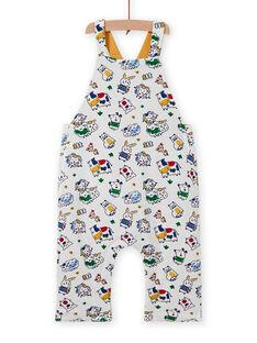 Gelber Wendeoverall für Baby-Jungen mit Tierprint MUMIXSAL / 21WG10J1SAL001