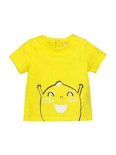 Gelbes Kurzarm-T-Shirt FUJOTI1 / 19SG1031TMC102