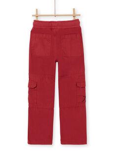 Rote Cargohose - Enfant Garçon LOROUPAN / 21S902K1PANF506
