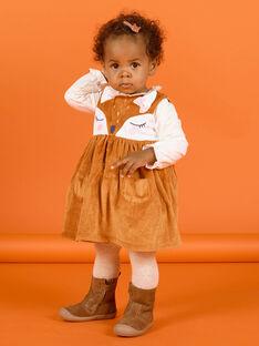 Baby Mädchen weiches Boa-Kleid ohne Ärmel MISAUROB2 / 21WG09P2ROB809