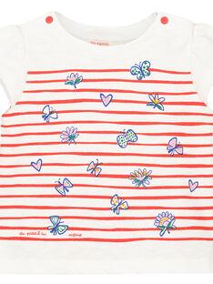Bedrucktes Baby-T-Shirt mit kurzen Ärmeln für Mädchen FITOTI2 / 19SG09L2TMC000