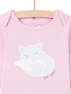 Baby Mädchen Langarm-Bodys mit Katzen-Print MEFIBODMAM / 21WH13B5BDLH702