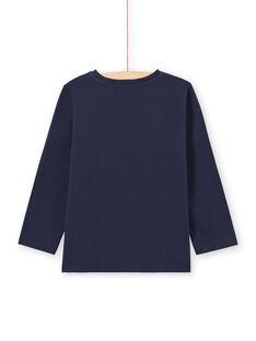 Baby Junge Langarm-T-Shirt in blau mit Amsterdam Design MOJOTEE4 / 21W90223TML705