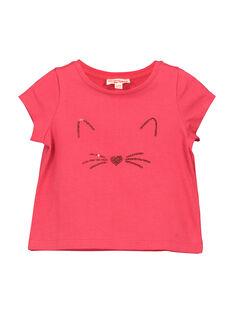 Schickes Baby-T-Shirt für Mädchen FIJOTI2 / 19SG0932TMC308