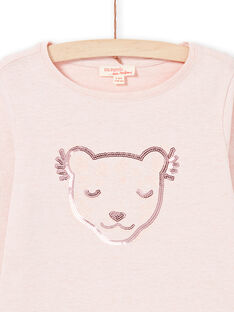 Rosa T-shirt Kind Mädchen MAJOYTEE2 / 21W90114TMLD314