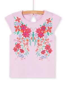 Rosa und grünes T-Shirt LAVITI1 / 21S901U2TMCH700
