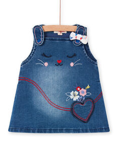 Baby Mädchen blaue Jeans Latzhose Kleid LIHAROB2 / 21SG09X3ROBP270