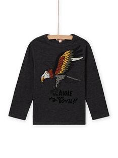 Langarm-T-Shirt für Jungen mit Adler-Print MOSAUTEE2 / 21W902P4TML944