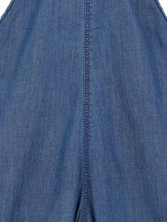 Lange Latzhose in leichtem mittlerem Denim Baby Junge GUVIOSAL / 19WG10R1SALP274
