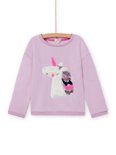 Wendepailletten-Sweatshirt für Mädchen mit Einhorn MAPLASWEA / 21W901O1SWE326