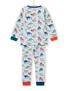 Graues phosphoreszierendes Pyjama-Set für Jungen mit Dinosaurier-Druck MEGOPYJAOP / 21WH1282PYJJ922