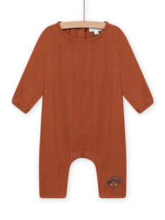 Brauner Jumpsuit aus Baumwollgaze Geburt gemischt MOU1COM2 / 21WF0542CBLI810