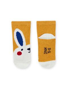Gelbe Kaninchensocken für Baby-Jungen MYUMIXCHO1 / 21WI10J2SOQ117