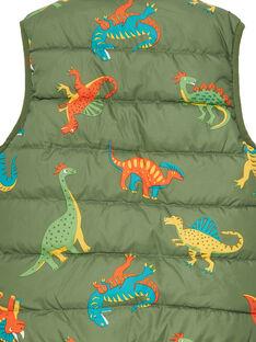 Ärmellose Wendejacke für Jungen mit Dinosaurier-Druck JOGROBLOU2EX / 20S902I7BLO604