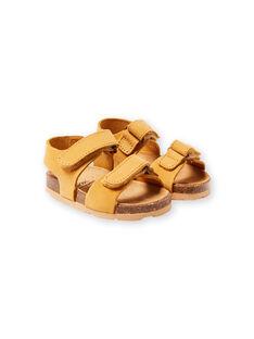 Baby Junge Gelbe Sandalen LBGNUJAUNE / 21KK3852D0E010