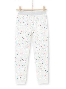 phosphorescent Kinder-Jersey-Pyjama mit Katzenmotiv für Mädchen LEFAPYJCAT / 21SH1151PYJ001
