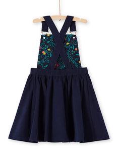 Marineblaues Latzkleid für Mädchen MATUROB4 / 21W901K3ROB070