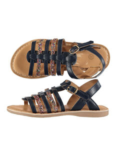 Sandalen aus zwei Materialien für draußen Mädchen FFSANDMEL / 19SK35K1D0E070