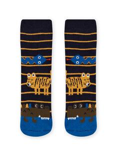 Mitternachtsblaue Socken mit Tiermotiv für Kinder Jungen MYOKACHODER / 21WI02I1SOQ705