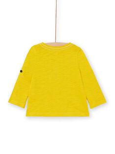 Baby Junge gelbes T-shirt LUJOTUN3 / 21SG1036TML106