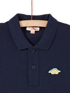 Mitternachtsblaues Poloshirt - Junge LOJOPOL1 / 21S90241POL705