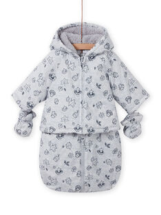 Fancy gedruckt grau Regenmantel Geburt gemischt MOU1PIL1 / 21WF0541PILJ920