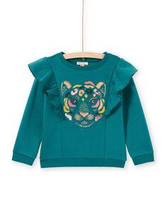 Blaue Ente Pullover Kind Mädchen MAKASWEA / 21W901I1SWEG633