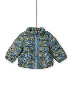 Baby Boy's khakigrüne wattierte Jacke mit Tiger-Print MUGRODOU / 21WG1051D3E604