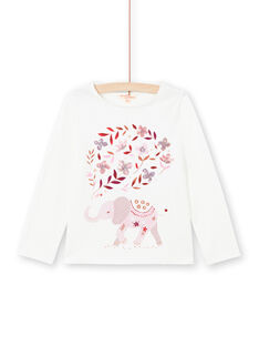 Baby Mädchen Langarm-Wende-T-Shirt Kirsche MACOMTEE1 / 21W901L1TML001