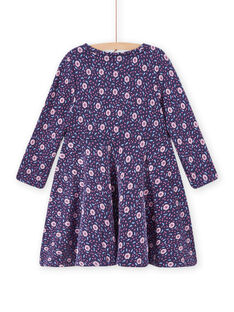 Kind Mädchen geblümtes Skater-Kleid MAPLAROB3 / 21W901O3ROBC202