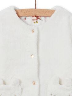Baby Mädchen Ecru Reversible Strickjacke MIJOCAR1 / 21WG0911CAR001